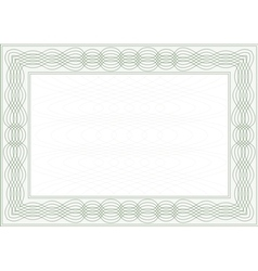 Frame for certificate vector image