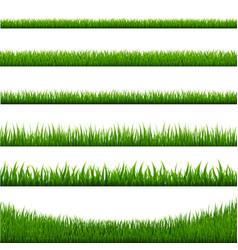 grass borders set vector image vector image