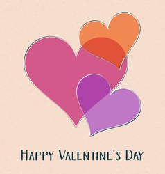 Happy valentine day retro card vector image
