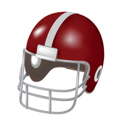 helmet football red with line vector image