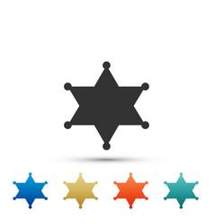 hexagram sheriff icon isolated on white background vector image