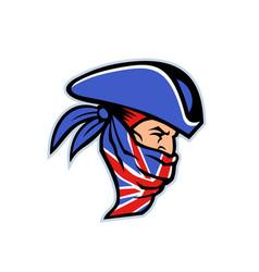 highwayman wearing union jack bandana side mascot vector image