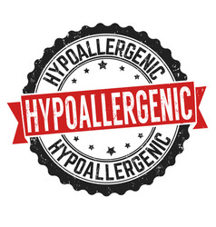 Hypoallergic sign or stamp vector
