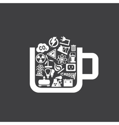 Industry a cup vector image