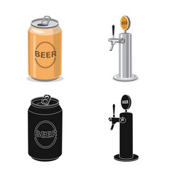 Isolated object of pub and bar symbol set of pub vector