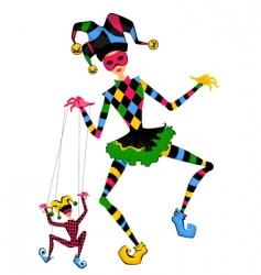Jesters dancing vector