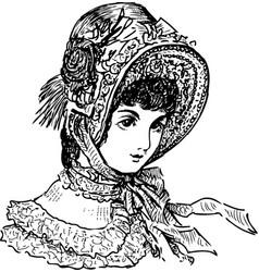Lady 19th century vector