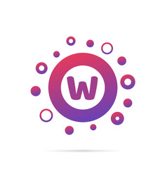 letter w with group of circles abstract logo icon vector image vector image