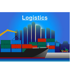 logistic sea freight vector image