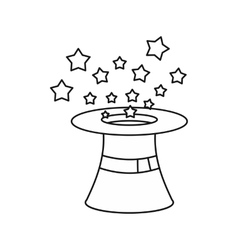 Magician hat icon outline style vector