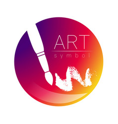 modern logo sign of drawing art paint brush in a vector image
