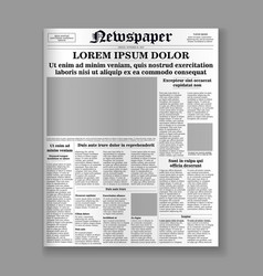 Newspaper front page vector
