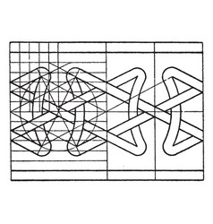 Northern interlacement band is a pattern vintage vector