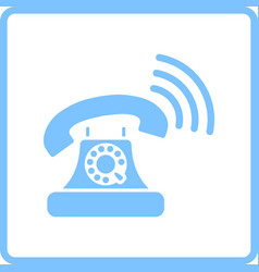 old telephone icon vector image