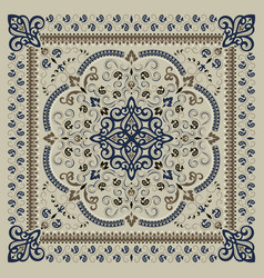 ornament paisley bandana print silk neck vector image