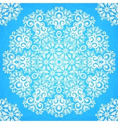 Ornate vintage blue lacy seamless pattern vector image