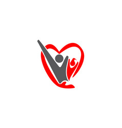 Parenting love logo design template vector