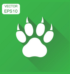 paw print icon business concept dog cat bear paw vector image