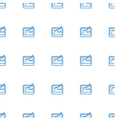 pen tool on tablet icon pattern seamless white vector image