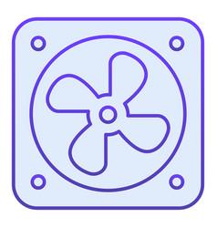 Radiator fan flat icon car fan cooling blue icons vector