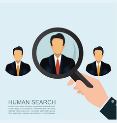 recruitment concept looking for an employee vector image