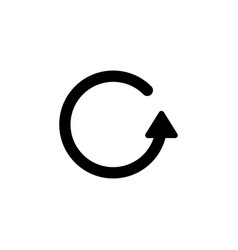 Revert rotate replay arrow icon signs and symbols vector