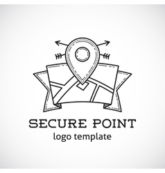 Safe Shield Point Abstract Logo Template vector