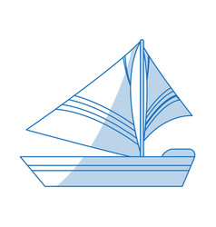 Sailboat icon design vector