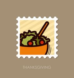 salad bowl stamp harvest thanksgiving vector image
