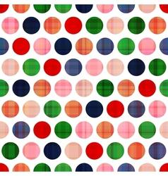 Seamless polka dots texture pattern vector