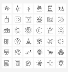 Set 36 simple line icons download pencil vector
