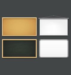 set boards templates or mockup vector image