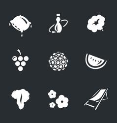set hookah icons vector image