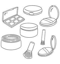Set of face powder vector