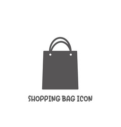 shopping bag icon simple flat style vector image