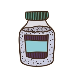 silhouette colorful bottle with salt and pepper vector image