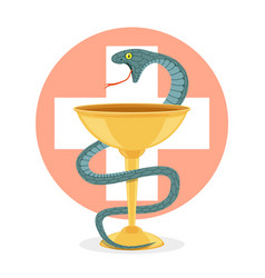 Snake and bowl vector