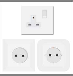 socket electrical outlet for electric plugs and vector image