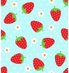Strawberry pattern vector image