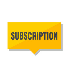 Subscription price tag vector