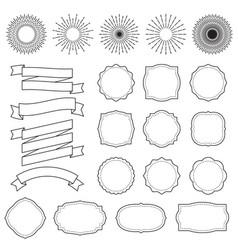 sunburst frames retro starburst rays frame vector image