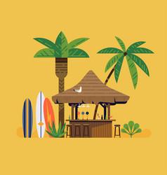 surfers bar canopy design element vector image