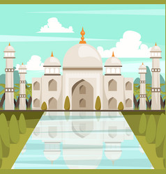 Taj mahal mausoleum in india orthogonal vector