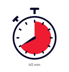 Timer 40 minutes symbol color style vector