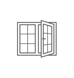 window line icon on white background vector image