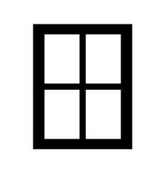 window the black color icon vector image