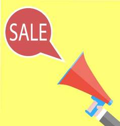 Announcement of sales with megaphone vector image