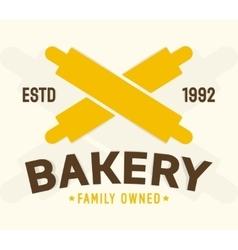 Bakery shop design element vector image
