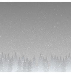 Grey silhouette of trees on a gray background vector image