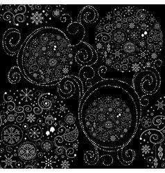 Line art design Christmas seamless pattern vector image vector image